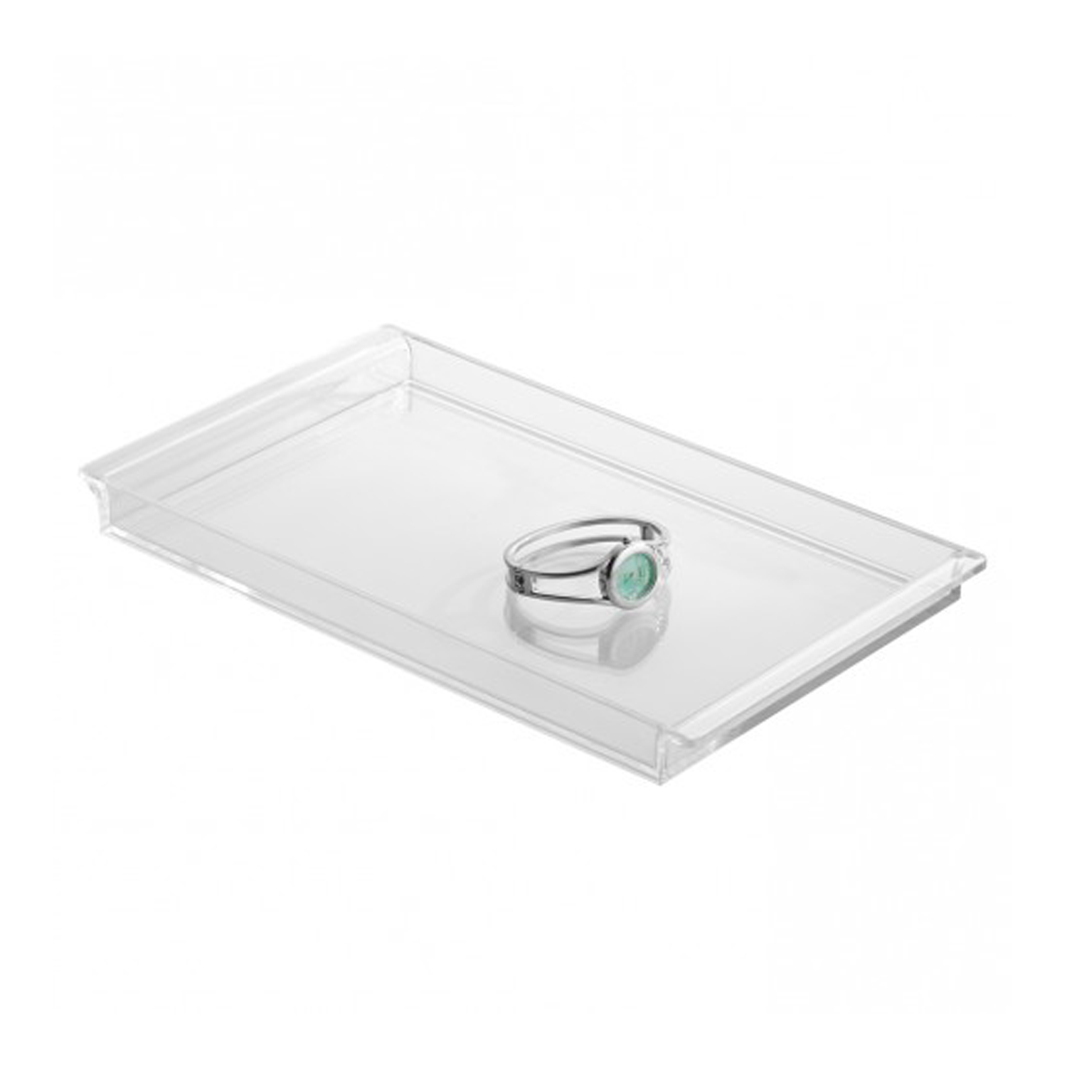 Clear clarity vanity tray available from storables everything