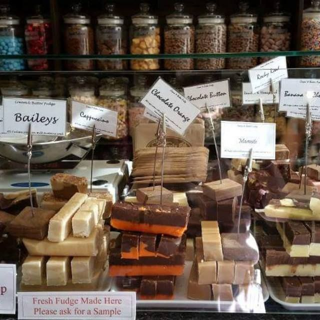 Gluten Free Fudge Freshly Made in our shop - please ask staff for the selection Available