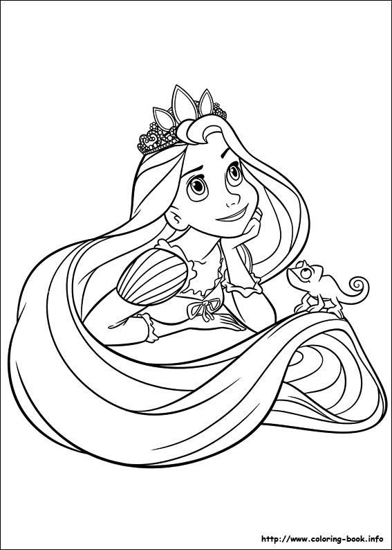 Tangled coloring picture | Coloring pages | Pinterest | Cosas para ...