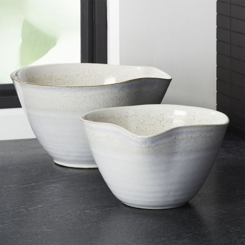 Free Shipping Shop Mason Rustic Spouted Mixing Bowls Set Of 2 Organically Shaped With Gently Pinched Spouts This P Mixing Bowls Bowl Ceramic Utensil Holder
