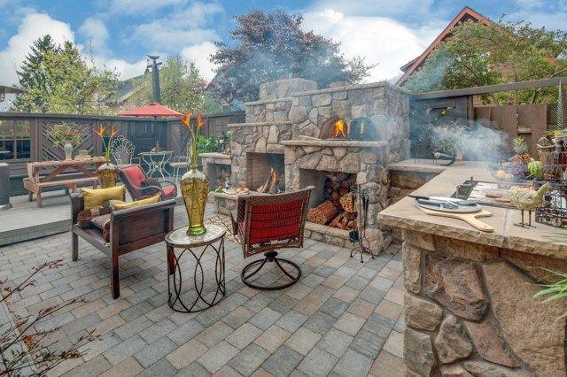 Outdoor Küche Gestalten : Outdoor küche gestalten kleingarten was muss gartenküche raus