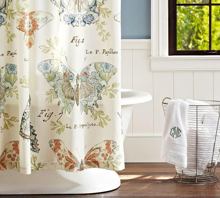 Pottery Barn Butterfly Shower Curtain For Sale Butterfly Shower