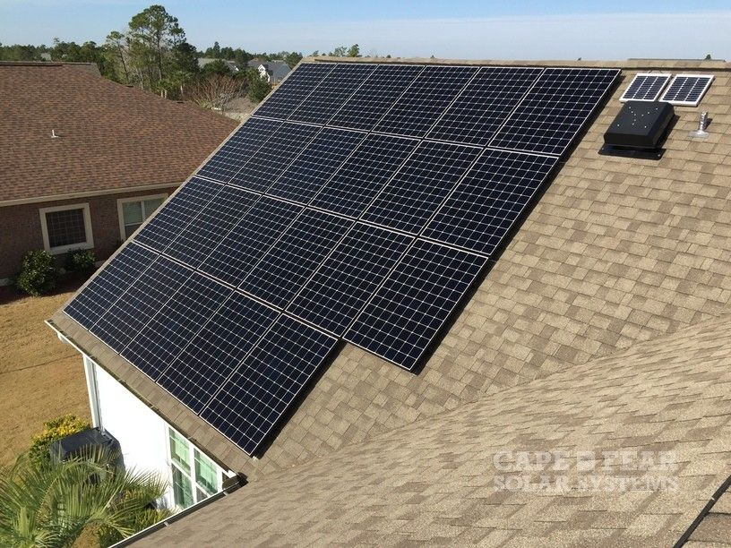 Beautiful Solar Array And Solar Attic Fan Solar Pool Heating Solar Water Heating Solar Attic Fan