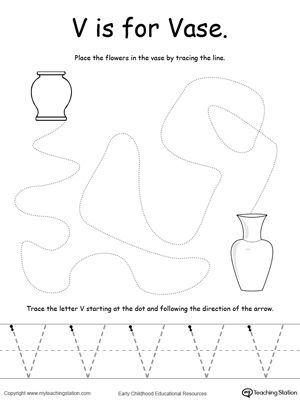 the letter v is for vase writing letter v crafts letter worksheets for preschool letter. Black Bedroom Furniture Sets. Home Design Ideas