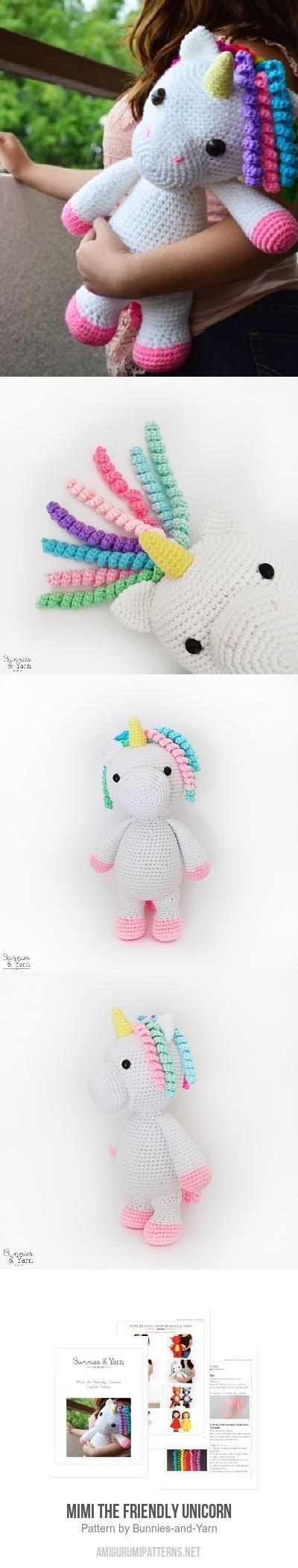 Mimi the Friendly Unicorn amigurumi pattern   Pines   Pinterest ...