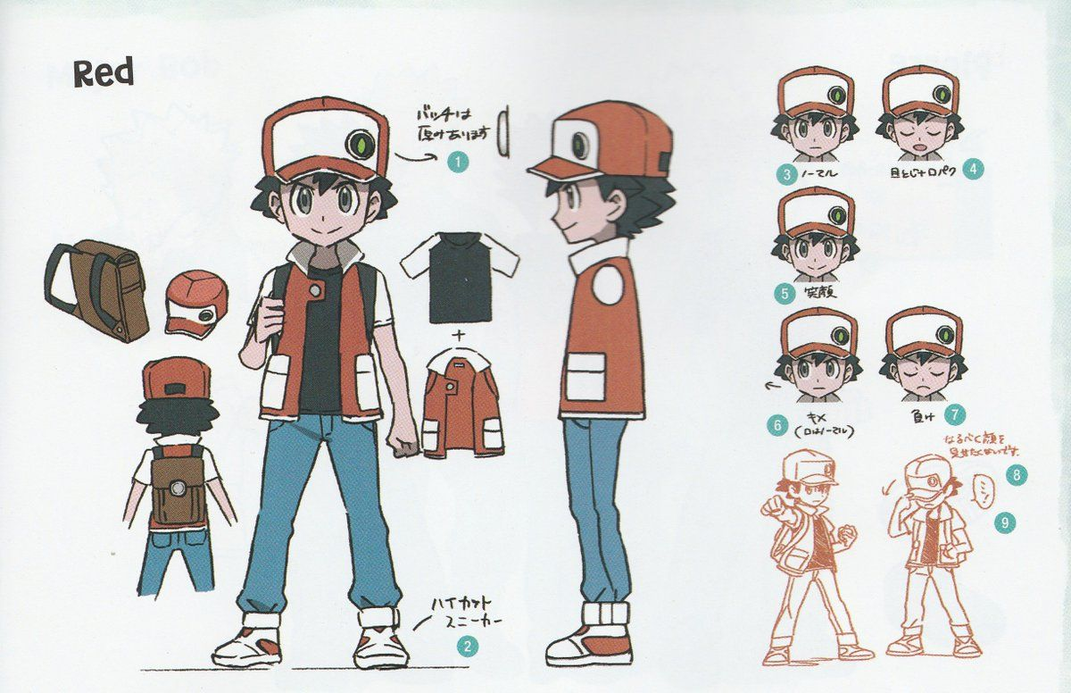 Gallery Lots Of Pokemon Let S Go Concept Art From The Official Artbook Nintendosoup Pokemon Pokemon Trainer Red Pokemon Characters