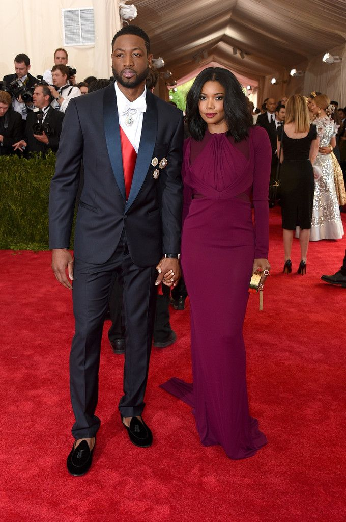 Dwyane Wade & Gabrielle Union | Red Carpet Review: The 2015 Met Gala