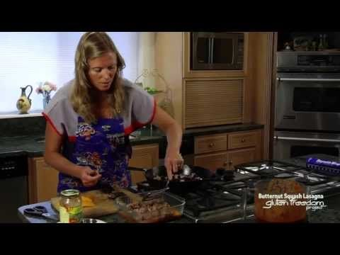 Gluten-Free Butternut Squash Lasagna Cooking Demo | GlutenFreedomProject.com
