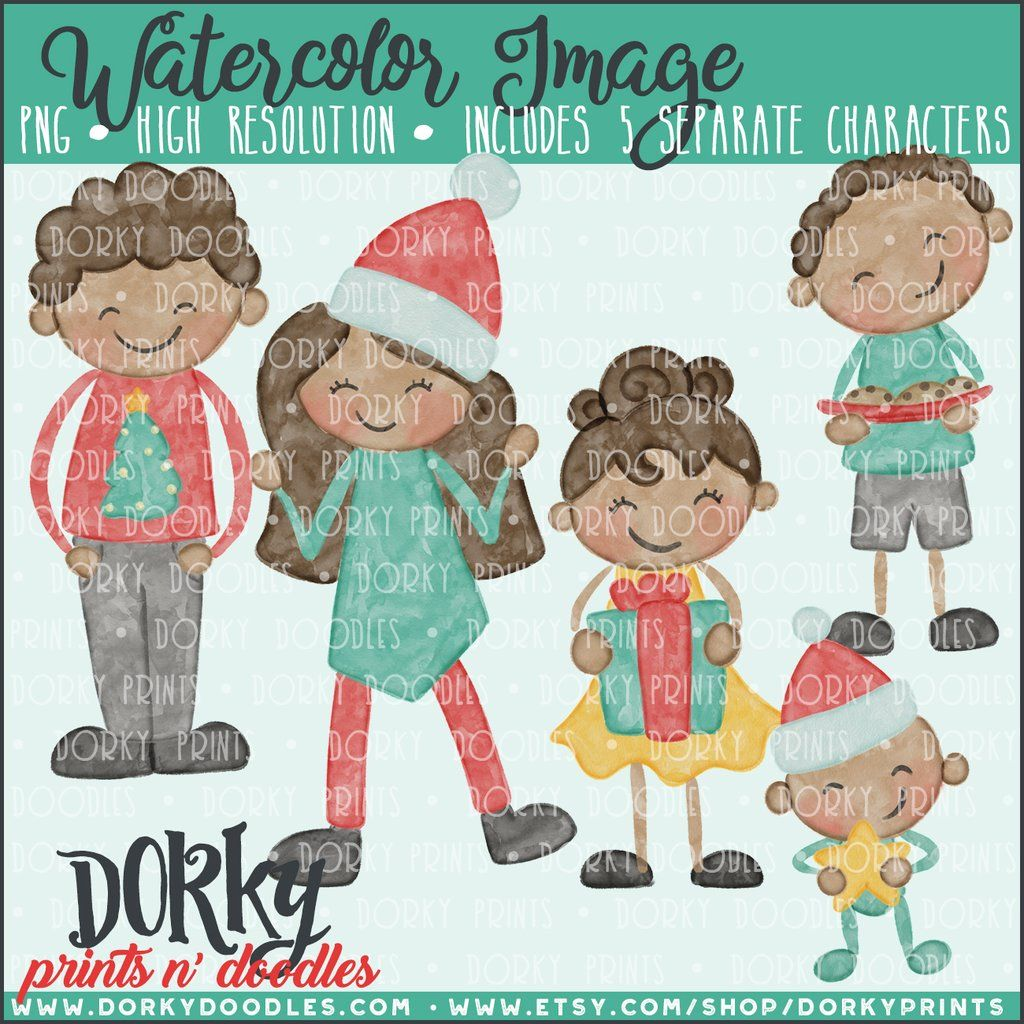 afce9f607 Pin by Dorky Prints N Doodles on Watercolor and Clipart Sets ...