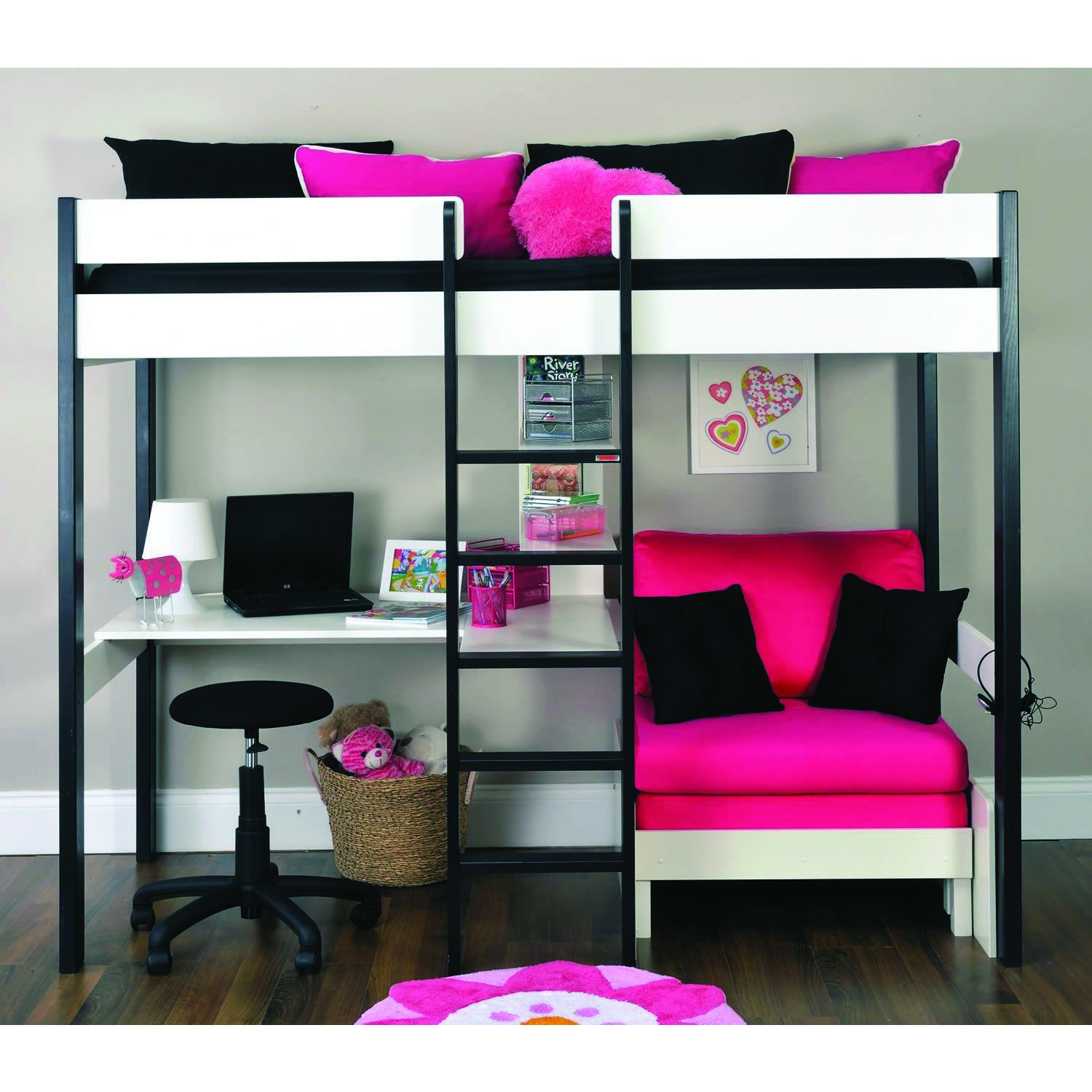 8 Loft Bedroom Ideas For Your Tiny Bed Room Homes Tre White Loft Bed Loft Bed With Couch Girls Loft Bed