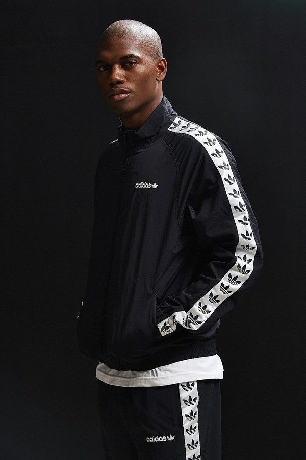 Adidas TNT Taped Windbreaker Jacket | Adidas jacket mens