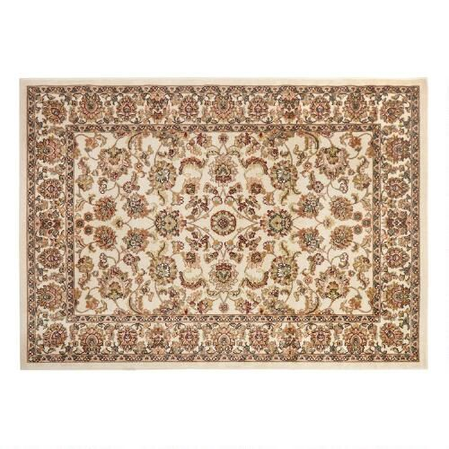 "One of my favorite discoveries at ChristmasTreeShops.com: 7'6""x9'10"" Traditional Ivory Floral Printed Olefin Area Rug"