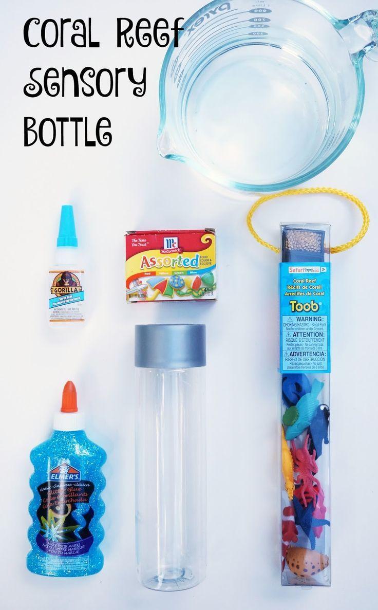 Coral Reef Sensory Bottles #sensorybottles