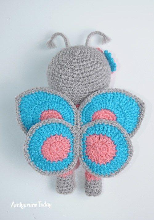 Amigurumi muñeca en traje de mariposa crochet patrón | croche ...