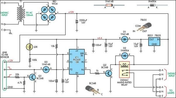 Automatic security lights circuit diagram | Technical in 2019 | Diy on circuit diagram for lighting, block diagram for lighting, wiring diagram hvac, wiring diagram radio, wiring diagram motor, wiring diagram electronics, wiring diagram telephone, wiring diagram air conditioning, wiring diagram motion sensor,