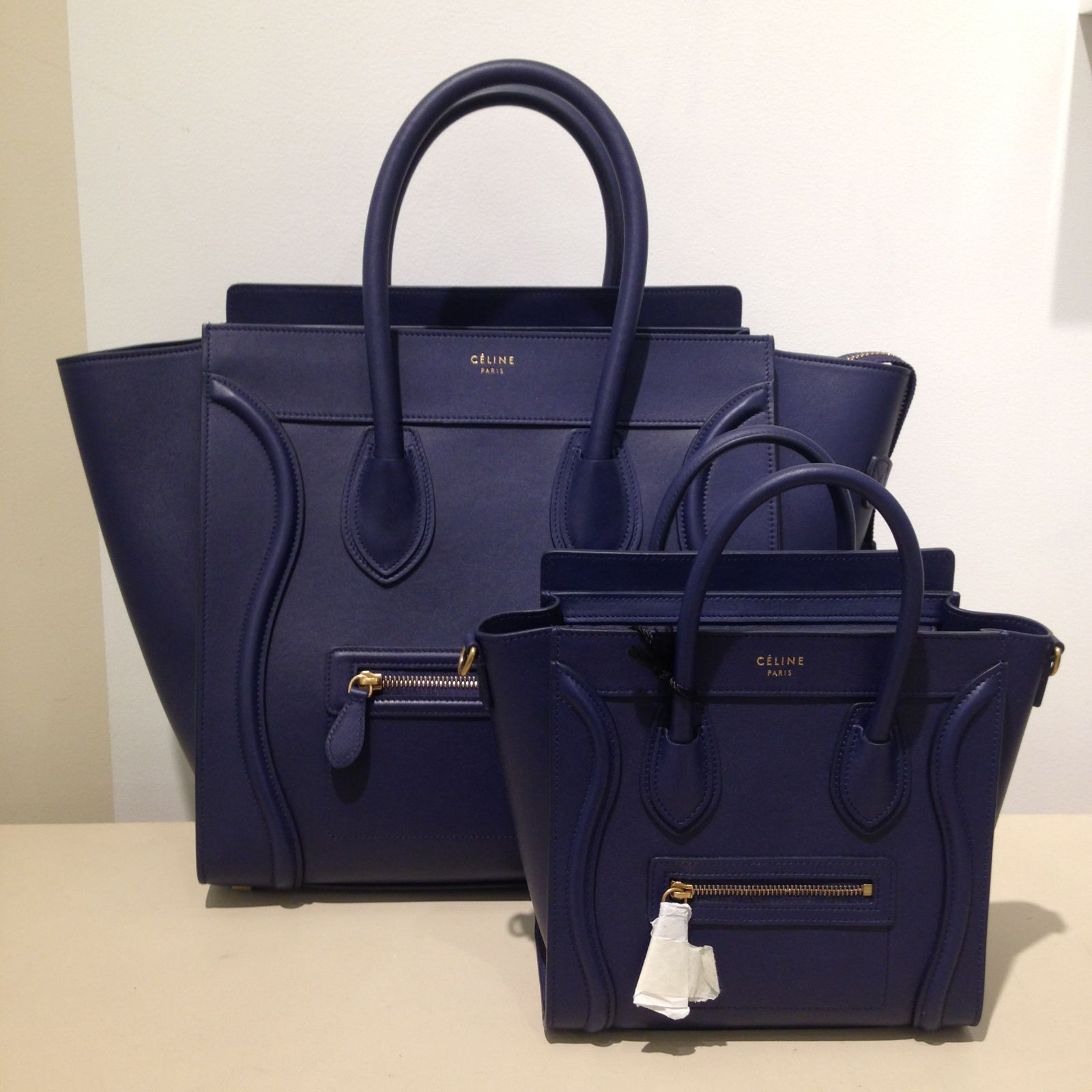 75d739b0f4 Celine Navy Blue Nano Bag
