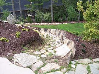 Landscaping Water Runoff One Year Later View Of The Waterway Easy Garden Stormwater Sloped Yard