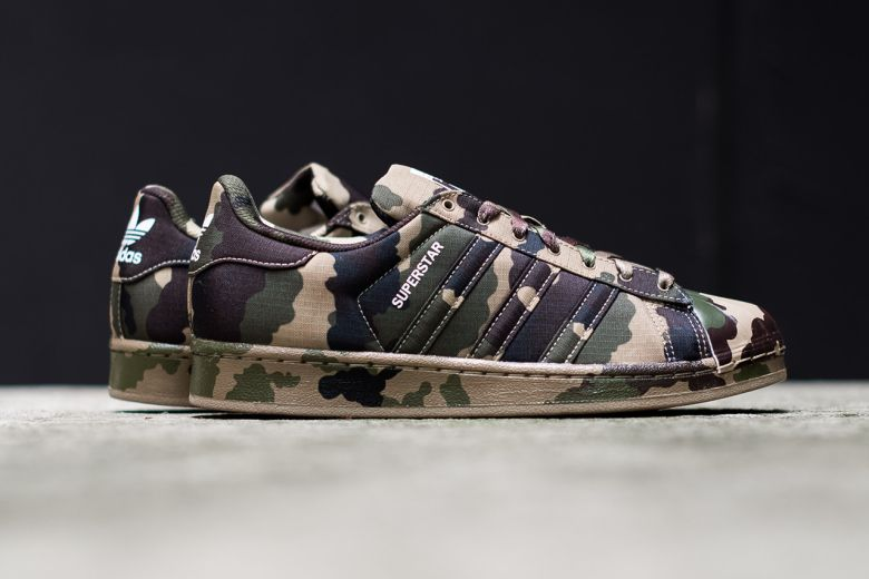 Adidas Superstar Camouflage Green