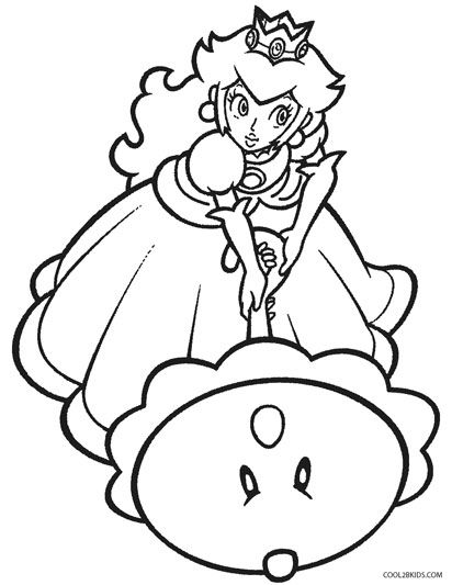 Princess Peach Coloring Pages Mario Coloring Pages Cute