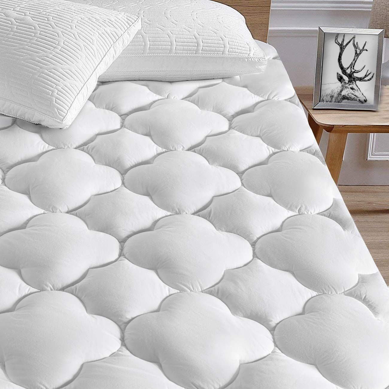 Fitted Cover 4 Available Twin, Pink Lab Tested Waterproof Vinyl Free PapaHome Hypoallergenic Knitted Polyester Mattress Protector