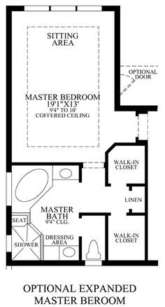 Master Suite Addition Would Just Need To Also Add Laundry Facilities Closet Area Bedroom LayoutBedroom SizeBedroom LayoutsBathroom