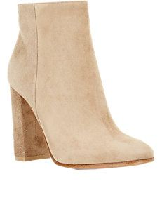 Suede Side-Zip Ankle Boots