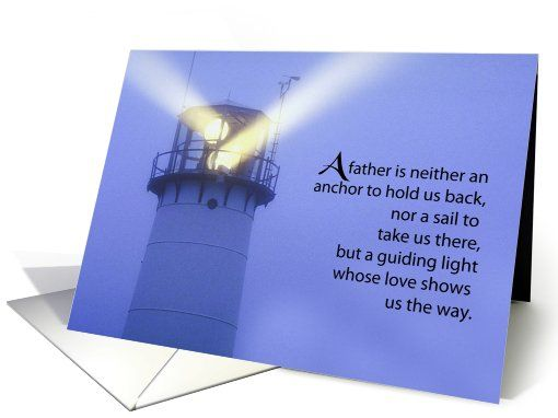 Lighthouse Father S Day Guiding Light Card Happy Fathers Day