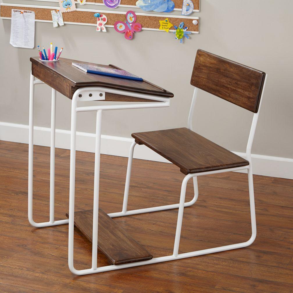 Modern Schoolhouse Desk (White) | The Land Of Nod