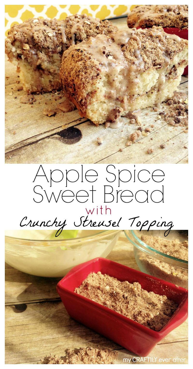 #Bakeinthefun with this Apple Spice Sweet Bread with Crunchy Streusel Topping [ad]