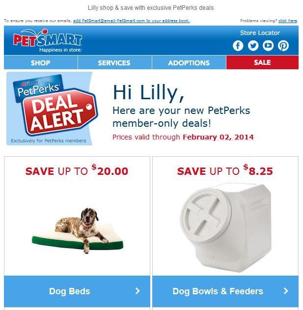 Petsmart Pet Perks Deal Alert With Member Exclusive Deals