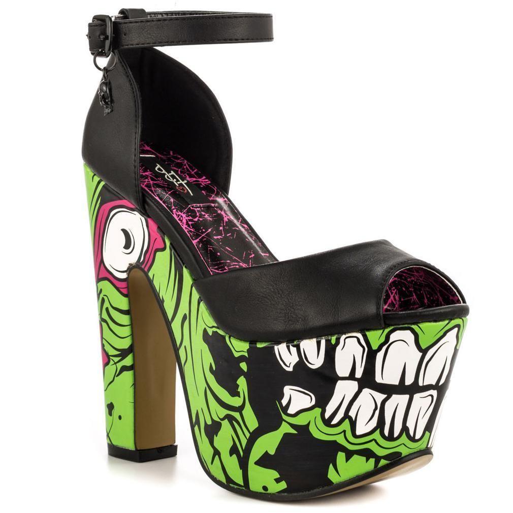 e53d05151c680 Iron Fist Zombie Stompers (Platform Heels)   Zombie Femme in 2019 ...