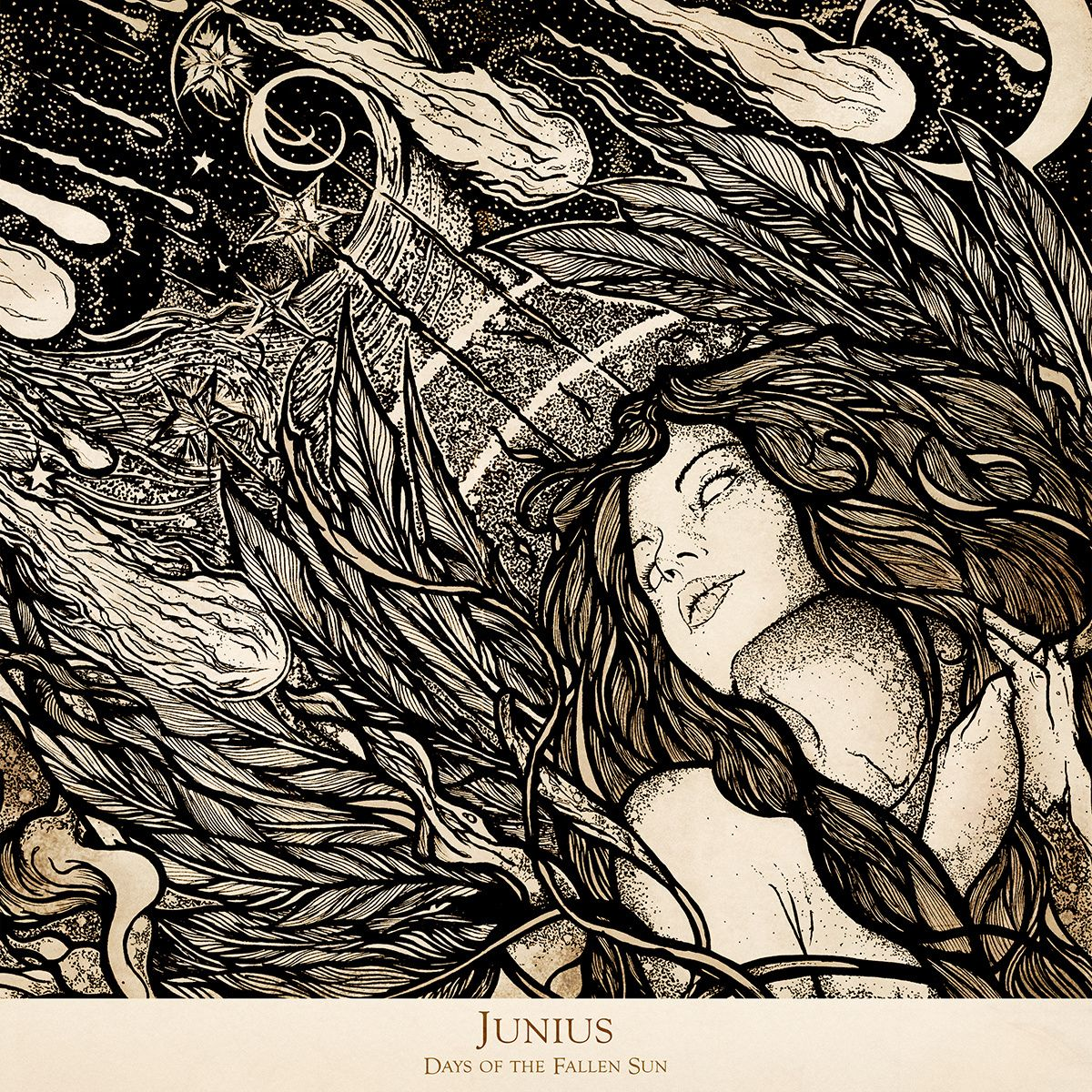 "Junius - Days Of The Fallen Sun  ""Vivir no es más que la pesadilla del suicida..."""