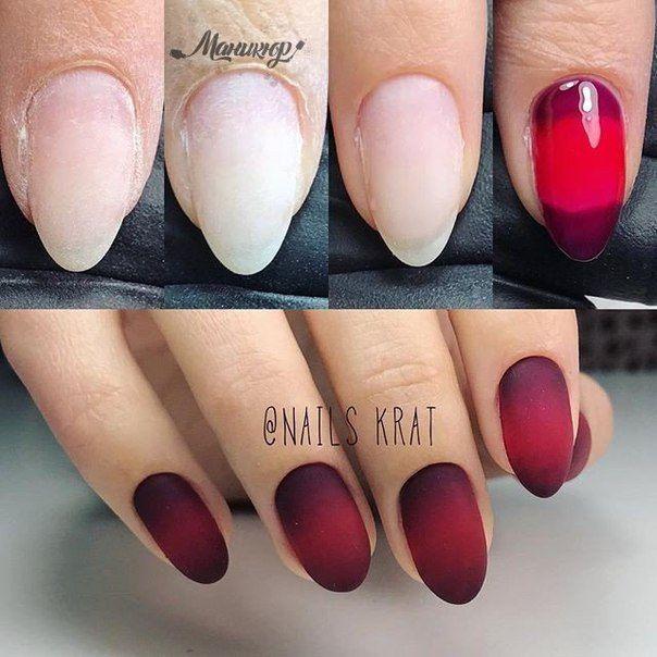 Маникюр | Nails | Маникюр с эффектом омбре, Ногти, Маникюр