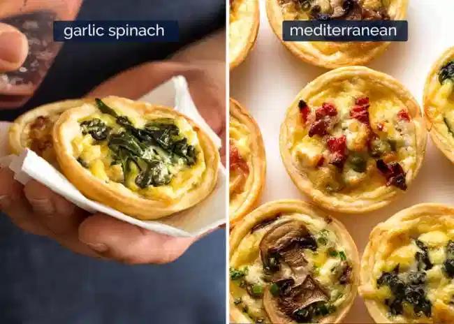 mini quiche 4 ways recipe in 2020 mini quiche mini quiche recipes quiche pinterest
