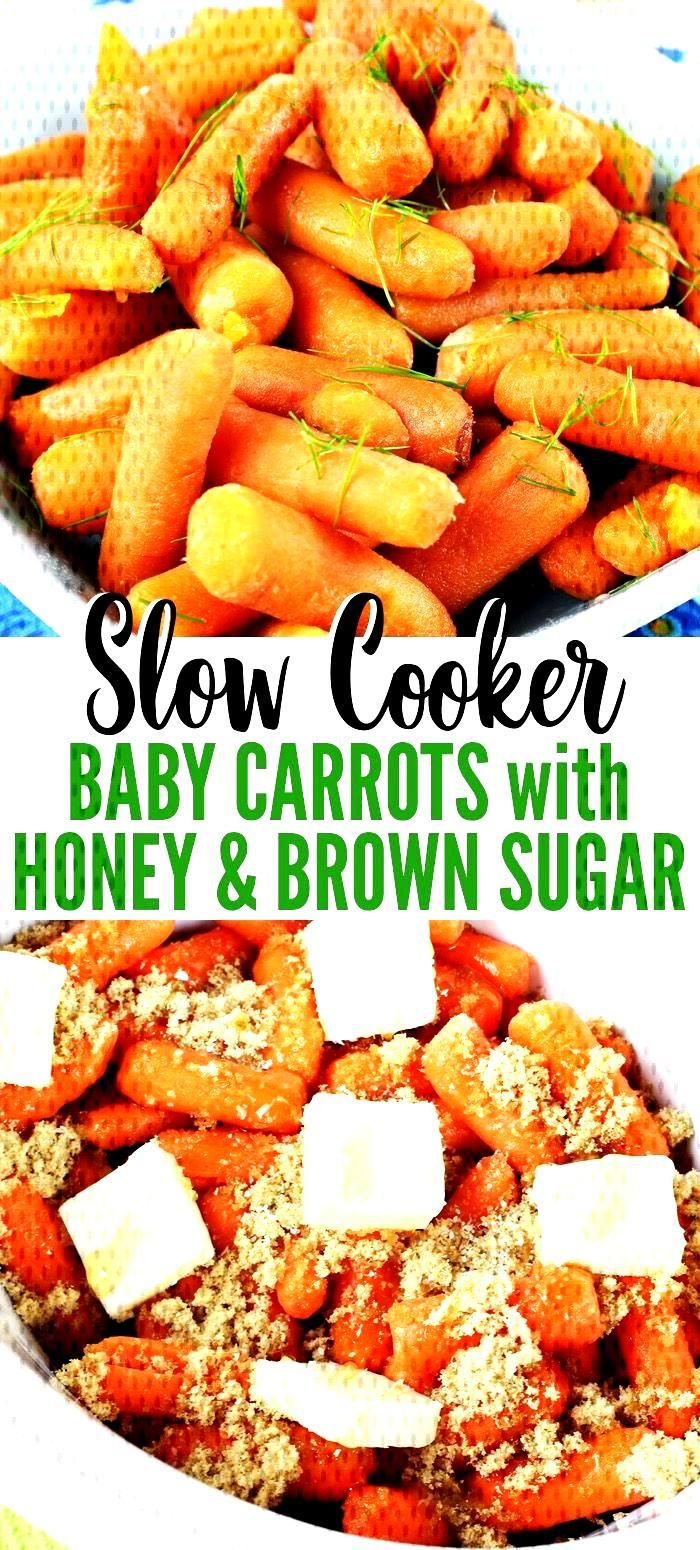 Baby carrots with honey and brown sugar Baby carrots with honey and brown sugar,