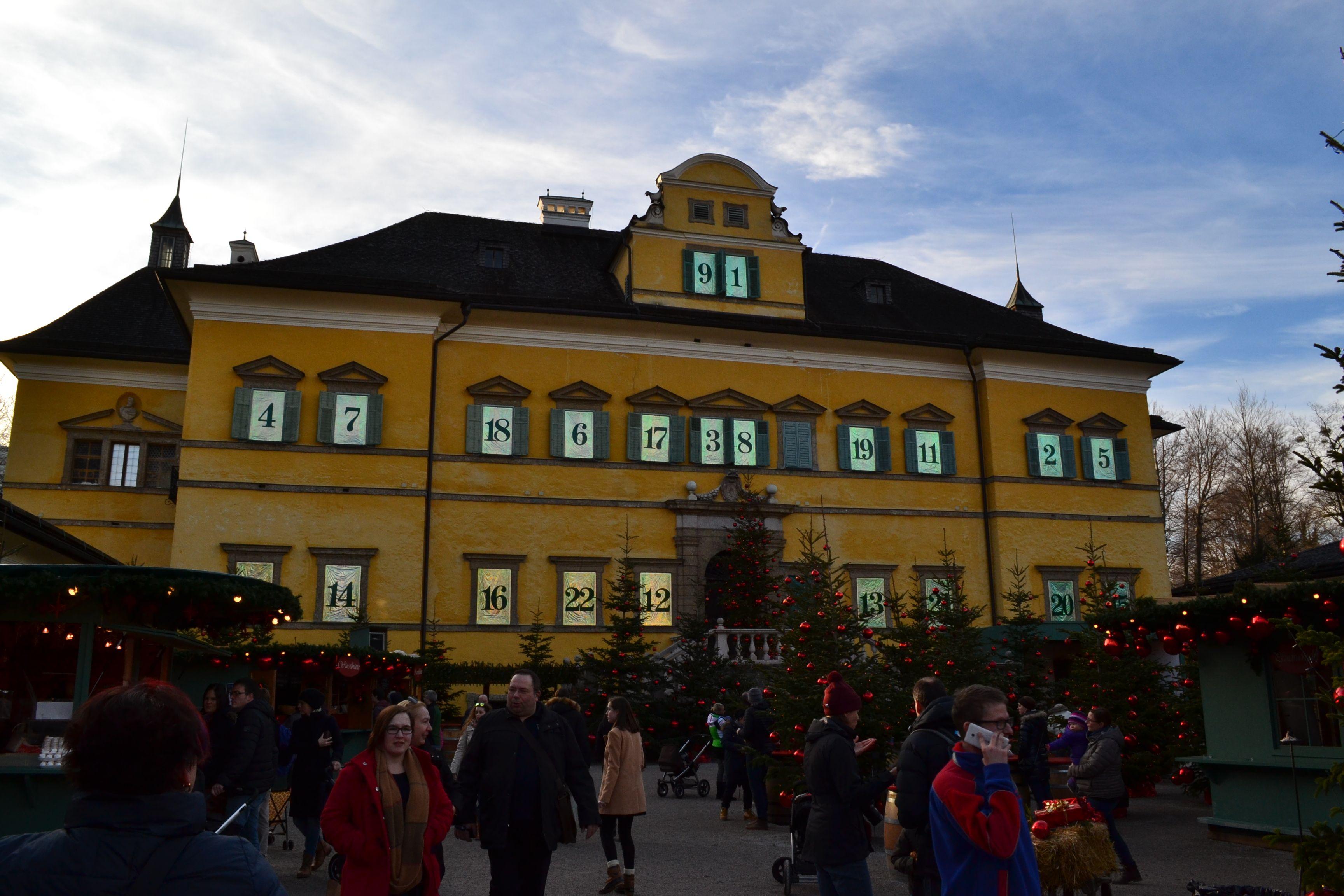Hellbrunn Palace Christmas Market | Christmas market, Outdoor theater, House styles