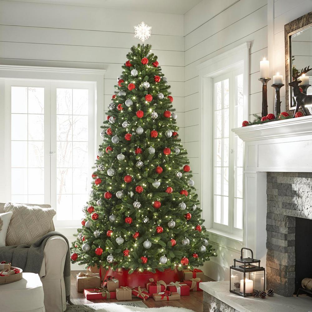 Home Accents Holiday 9 ft. PreLit LED Grand Fir Quick Set