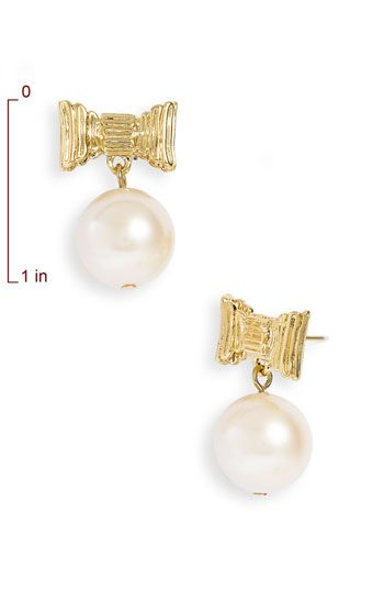 kate spade new york 'all wrapped up' glass pearl earrings, adorable