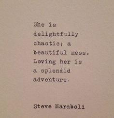 Steve Maraboli Love Quote Hand Typed on Vintage Typewriter