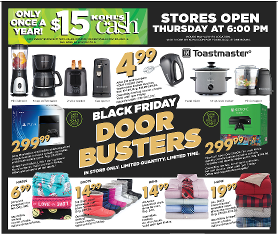 Kohl S Sales This Weekend: Kohls Black Friday Deals And Shopping List 2016