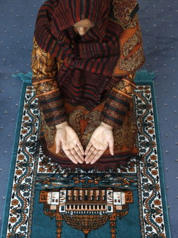 Muslim Woman Kneeling On Prayer Mat Saying Prayers Jordan Middle East Photographic Print Art Com Muslim Women Prayers Muslim