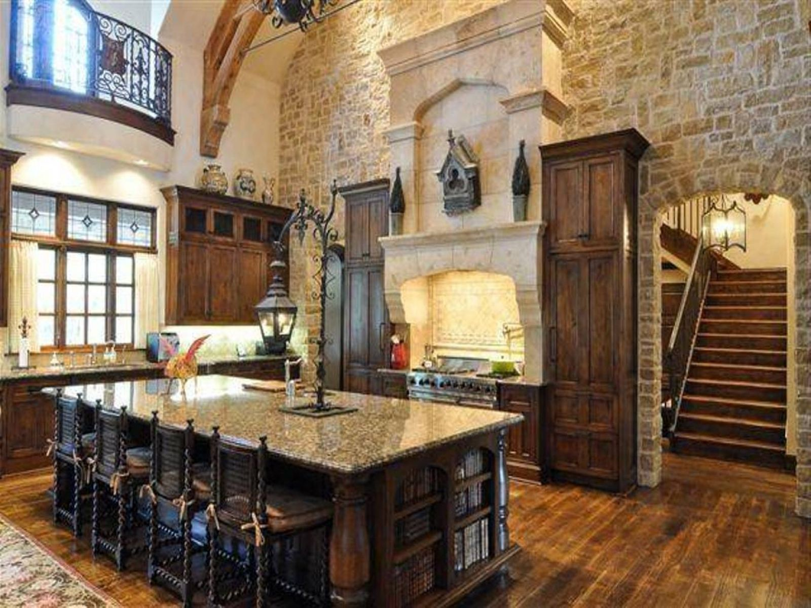 Best Kitchen Gallery: Luxury Rustic Tuscan Kitchen Design With Stone And Large Island of Imgaes Luxury Tuscan Kitchen on rachelxblog.com