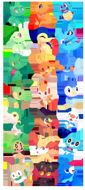 Pokemon Starters by ChocoChaoFun on DeviantArt