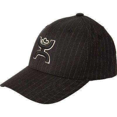 7e1bc2fd302 Mens Cowboy Hats HOOey Hammer Pin Black Black with White pinstripe fabric  3D