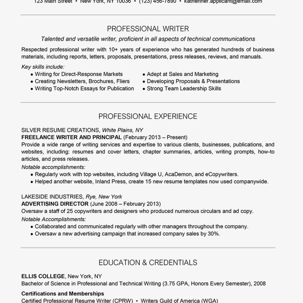 25+ Freelance writer resume skills Format