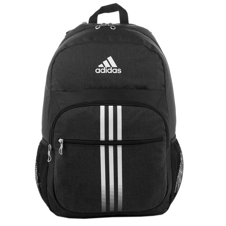 d1af381bab Black and White Adidas Backpack with 4 Compartments and Laptop Sleeve