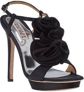 8338e7a78 shopstyle.com: BADGLEY MISCHKA Randee Evening Sandal Black Satin ...