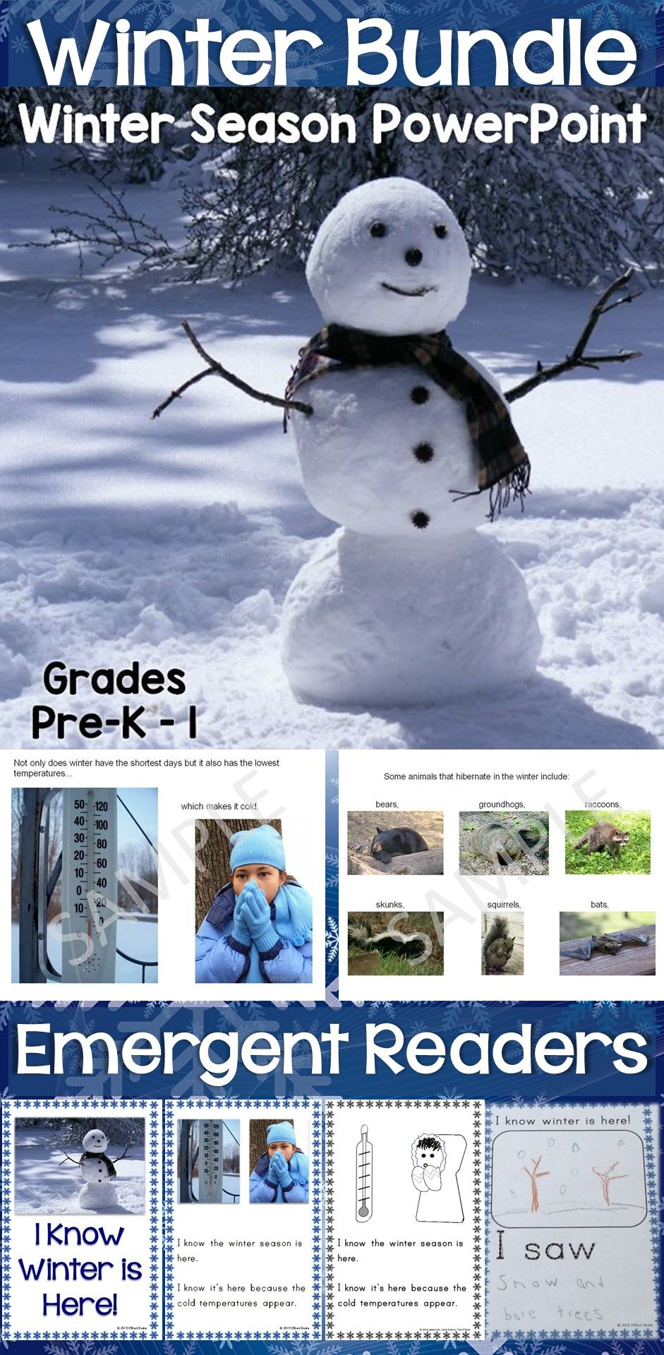 Signs Of The Winter Season Powerpoint  Emergent Reader Bundle