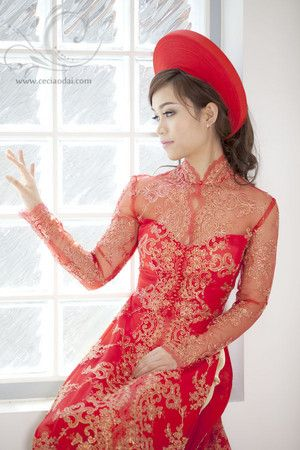 Soft traditional ao dai neckline with pearl buttons - Ceci Ao Dai ...