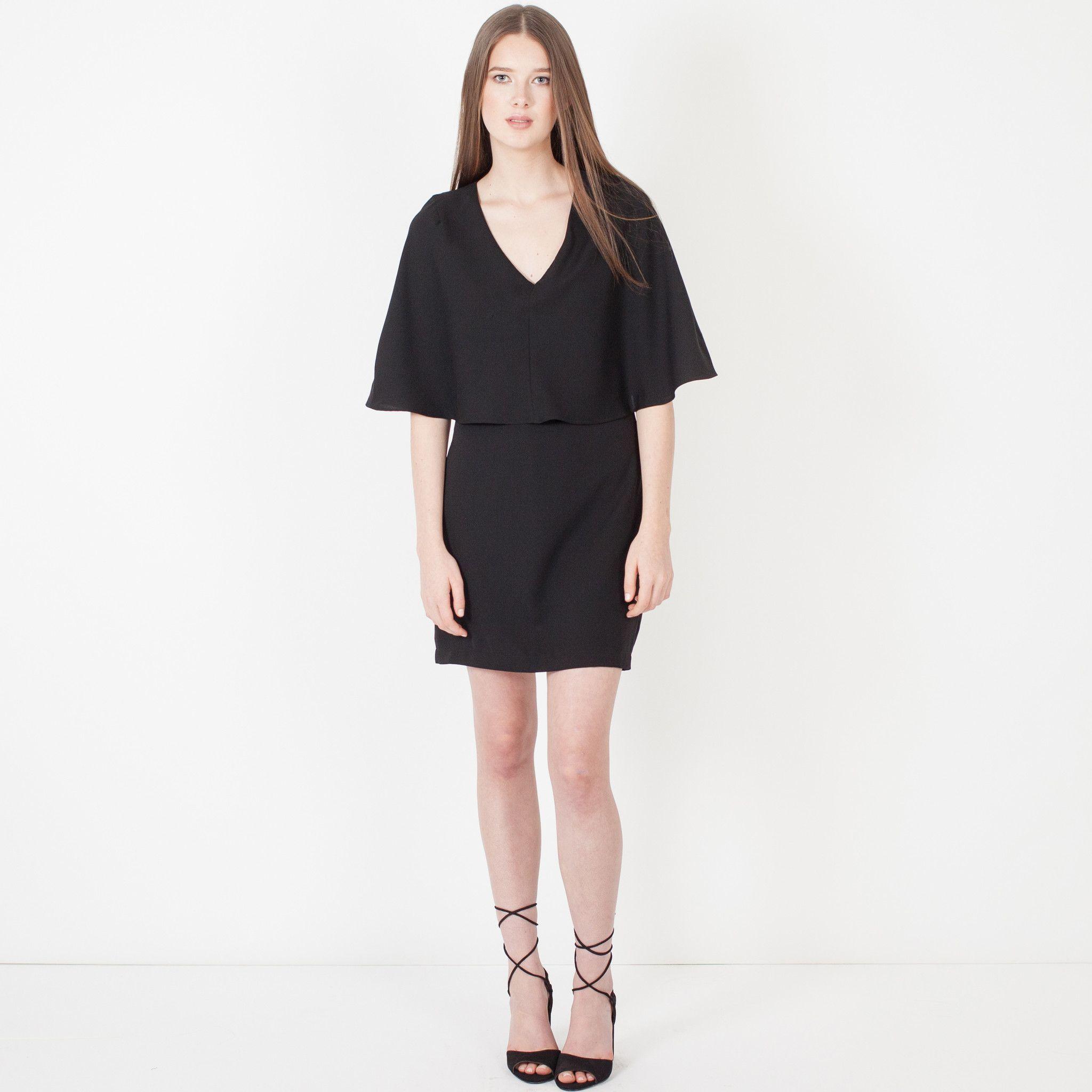 Modern Citizen  |  Rafa Caped Dress (Black) $92